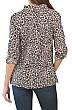 Leopard Twist Front Shirt