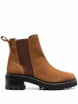 Thumbnail for your product : See by Chloe Suede-Leather Boots