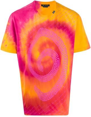 Versace swirl tie-dye print T-shirt