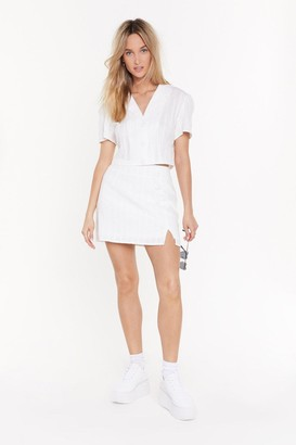 Nasty Gal Womens Loosen Up My Buttons Mini Skirt - White - 10, White