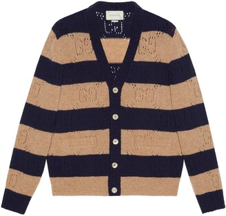 Gucci GG knit striped wool cardigan