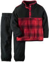 Carter's Toddler Boy Fleece Plaid Pullover & Pants Set
