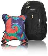 Obersee Bern Diaper Bag Backpack with Detachable Cooler in Tie Dye