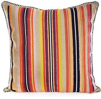 Mackenzie Childs Sanibel Stripe Outdoor Accent Pillow