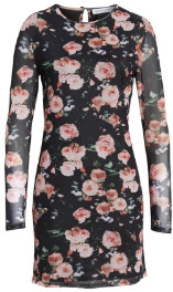 Rebecca Minkoff Phoebe Floral Sheath Dress - Multi / S - Black/Pink/White