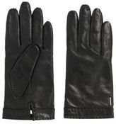Hugo Boss Garuni Lambskin Leather Gloves 7.5 Black