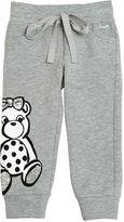 Simonetta Bear Printed Sequin Cotton Jogging Pants