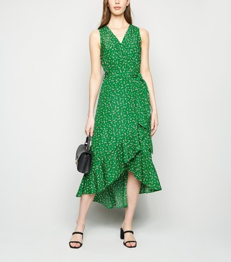 New Look AX Paris Floral Ruffle Hem Dress