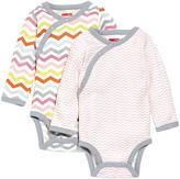 Skip Hop Pink & Gray Starry Chevron Bodysuit Set