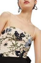 Topshop Square Neck Floral Sequin Bodysuit