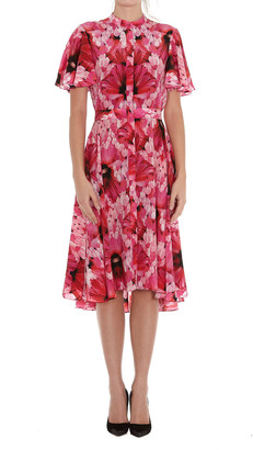 Alexander McQueen Endgangered Floral Print Dress