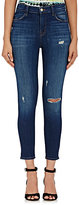 J Brand Women's Alana High-Rise Crop Distressed Skinny Jeans