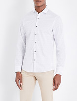 Michael Kors Ditsy-print slim-fit stretch-cotton shirt