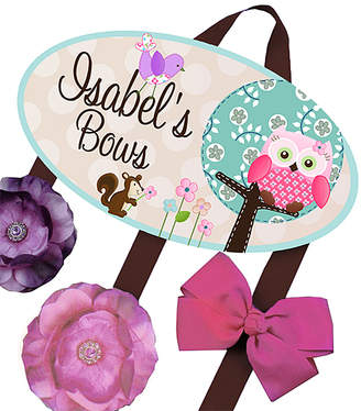 Toad And Lily Toad and Lily Hair Bows TEAL - Sweet Little Owl Personalized Hair Bow Holder