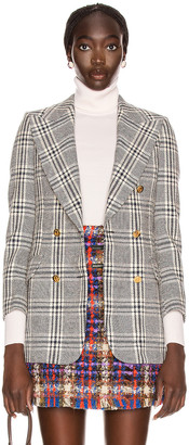 Gucci Plaid Jacket in Blue & White | FWRD