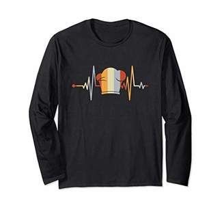 Vintage Style Retro Distressed Heartbeat Chef Cooking Gift Long Sleeve T-Shirt