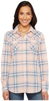 Roper 1141 Creamsickle Plaid Western Shirt Women's Clothing