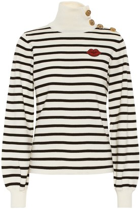 RED Valentino striped virgin wool sweater