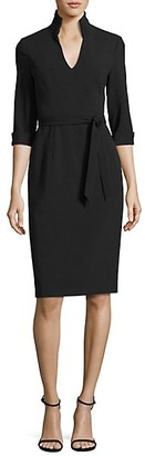 Black Halo Madeline Tie-Front Sheath Dress