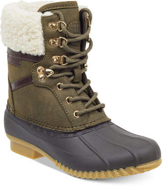 Tommy Hilfiger Rian Lace-Up Winter Boots Women Shoes