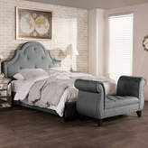 Baxton Studio Colchester Modern Platform Bed & Bench Set