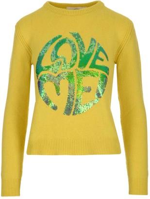 Alberta Ferretti Love Me Sequins Sweater