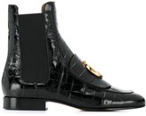 Chloé embossed C Chelsea boots