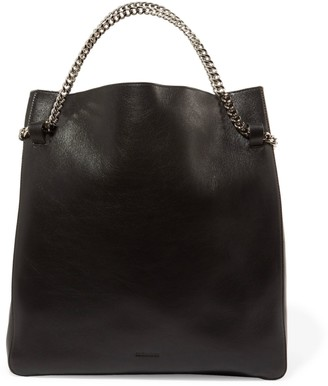 Jil Sander Chain-trimmed Leather Tote