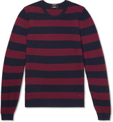 Hugo Boss - Striped Waffle-knit Virgin Wool Sweater