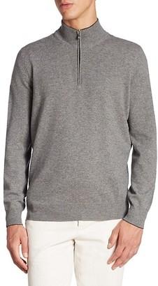 Brunello Cucinelli Cashmere Half-Zip Sweater