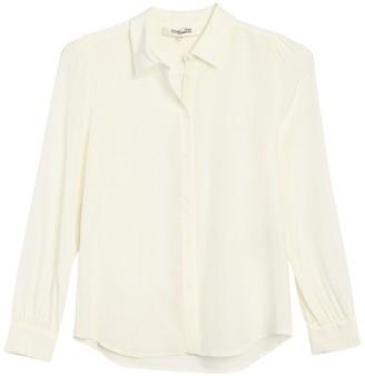 Diane von Furstenberg Mariah Button Front Silk Blouse