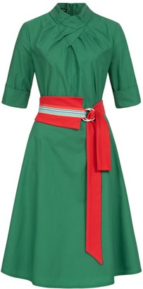 Marianna Déri Franchesca Dress Green with Two Belts
