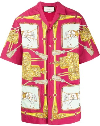 Gucci Archival Horse Print Bowling Shirt