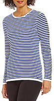 Calvin Klein Contrast Stripe Crew Neck Long Sleeve Sweater