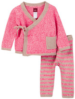 Tea Collection Cerro Bonete Pink Sweater Outfit (Baby Girls)