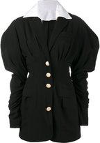 Jacquemus puff sleeve mini dress - women - Cotton/Wool - 38