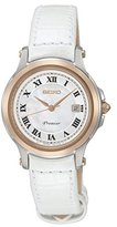 Seiko SXDE42P2 – Ladies Watch – Analogue Quartz – White Leather Bracelet