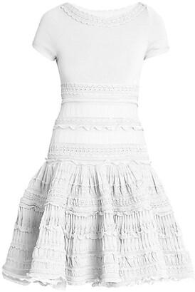 Alaia Editions Ruffle Knit Short-Sleeve Dress