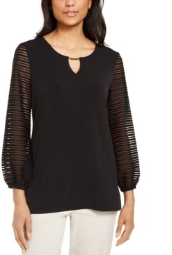 JM Collection Puff-Sleeve Top, Created for Macy's