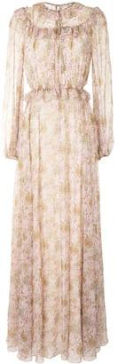 Giambattista Valli Ruffle-Trimmed Floral Print Gown