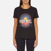 Kenzo Women's Tenamie Flower Logo TShirt - Black