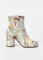 Maison Margiela unique variant fabric mid ankle bootie