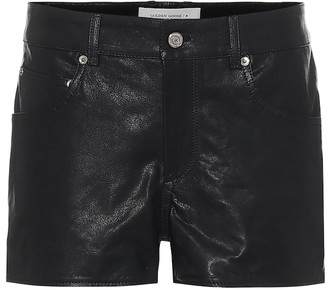 Golden Goose Zoey high-rise leather shorts