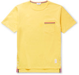 Thom Browne - Slim-fit Grosgrain-trimmed Cotton-jersey T-shirt