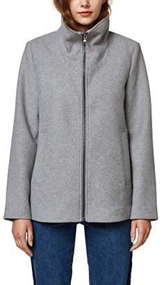 Esprit Women's 088ee1g037 Coat, (Light Grey 5 044), X-Large