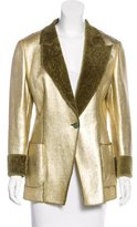 Ungaro Metallic Shearling Jacket