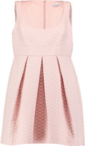 RED Valentino Textured cotton-blend mini dress
