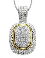 Lord & Taylor 14K Gold and Sterling Silver Diamond Pave Necklace