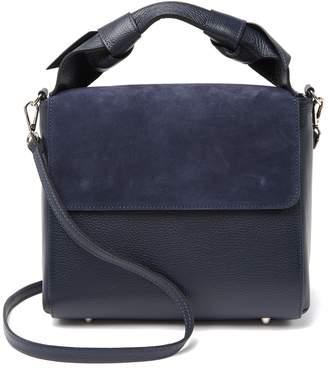 Persaman New York Loreta Suede Flap Leather Satchel Bag