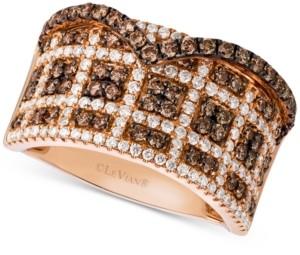 LeVian Le Vian Chocolatier Diamond Statement Ring (1-1/4 ct. t.w.) in 14k Rose Gold